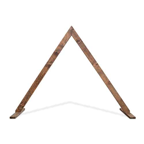 Timber triangle arbour