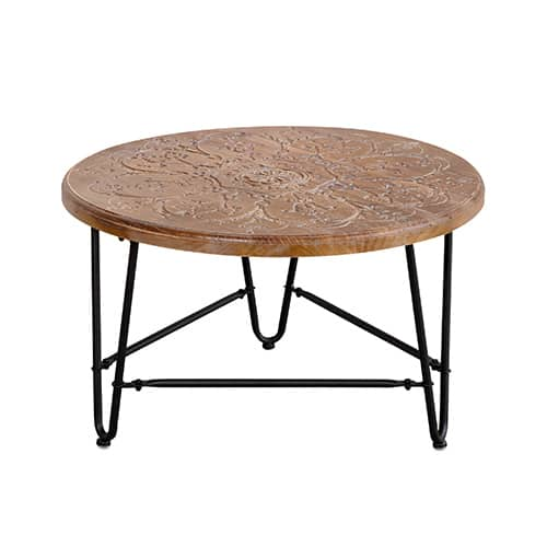 coffee table wooden carved