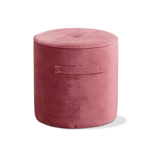 footstool blush velvet