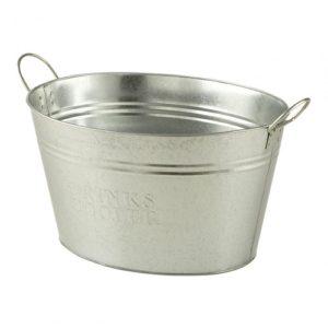 metal drinks cooler tub
