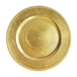 plate gold charger