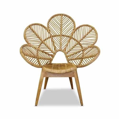 rattan petal chair for hire gold coast