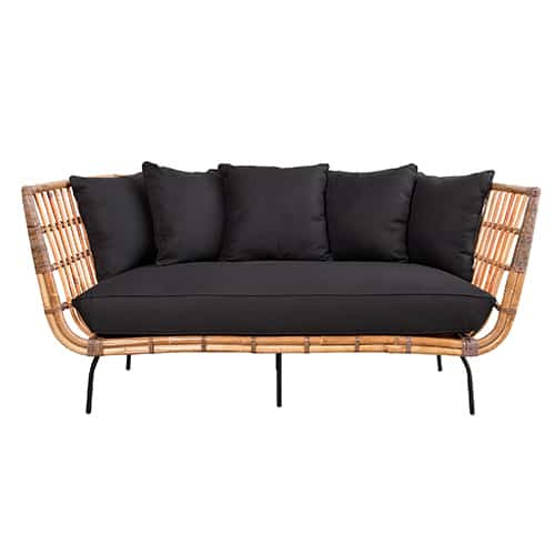 sofa rattan dark