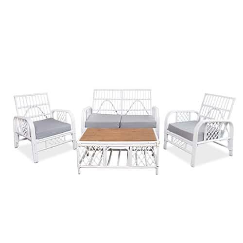 sofa white bamboo