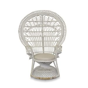 white peacock chair for hire gold coast