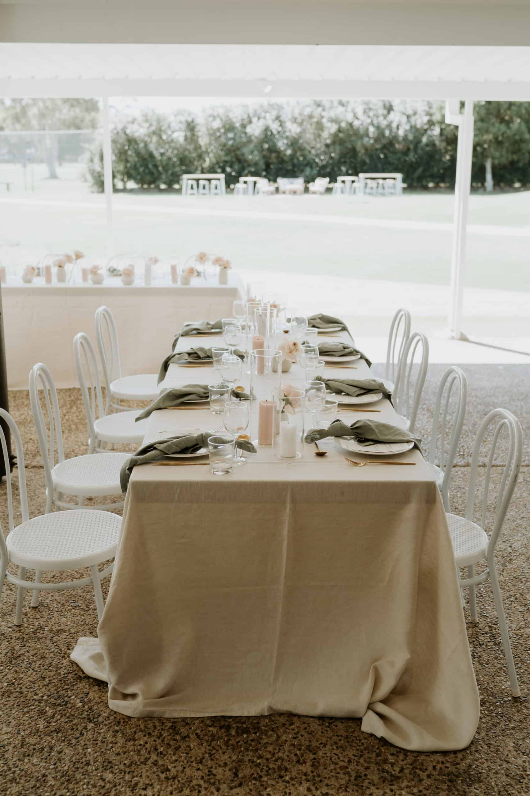 Meadow Park Golf Course Wedding Arctic Fox Styling Doe and Deer 37